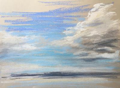 'Sky Study', pastel on paper