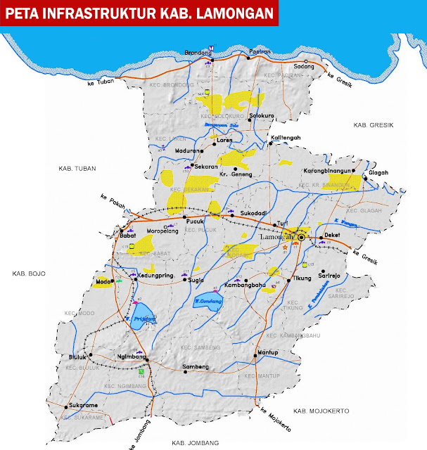 Gambar Peta infrastruktur Lamongan