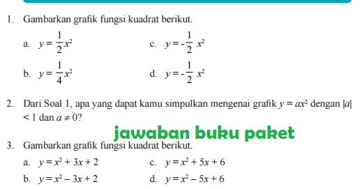 Lengkap Kunci Jawaban Buku Paket Matematika Latihan 2 2 Grafik Fungsi Kuadrat Halaman 92 93 Kelas 9 Kurikulum 2013 Kunci Jawaban Buku Paket Terbaru Lengkap Bukupaket