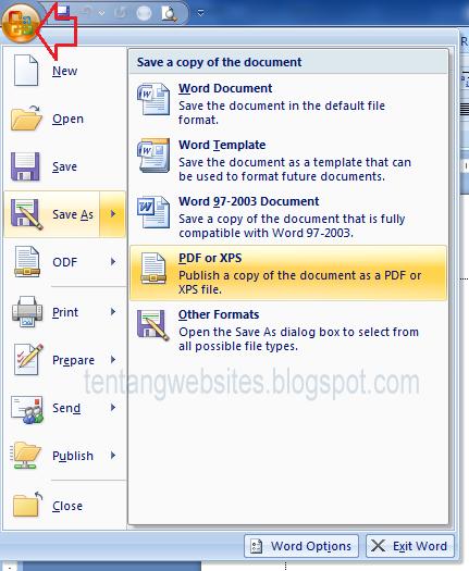 Cara Menyimpan Ms Word ke PDF