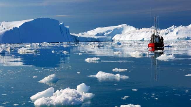 Lapisan Es Utuh Terakhir di Kanada Pecah, Menumpuk Jadi Seukuran Salatiga