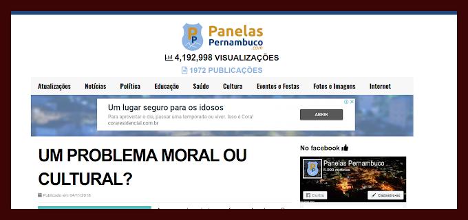 NOVO ARTIGO DO PIERRE LOGAN E A DÚVIDA DO PROBLEMA MORAL OU CULTURAL