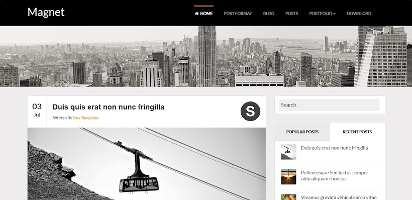Magnet Free Blogger Template