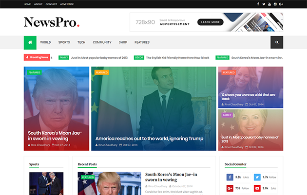 NewsPro Responsive Blogger Template