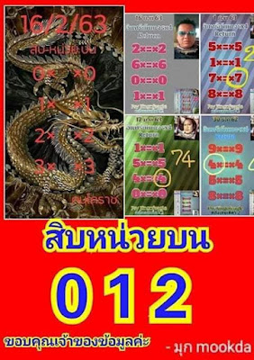 Thailand Lottery 3up Down Facebook Timeline Blogspot 16 February 2020