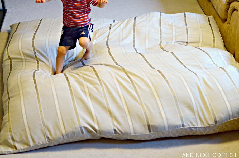 Diy No Sew Crash Mat Sensory Hack For Kids And Next