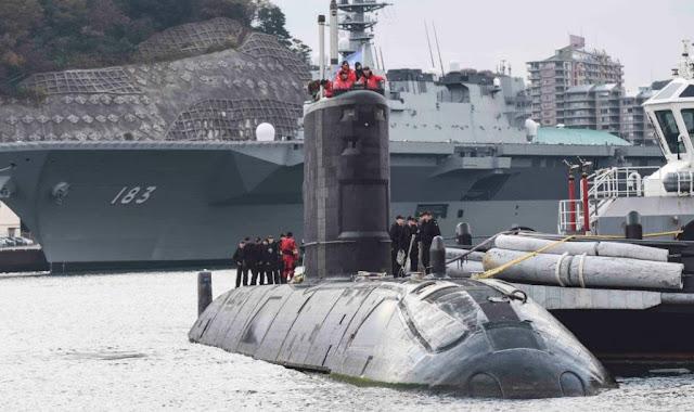 Submarino de Canada ejercita por primera vez con la USNavy y Japon