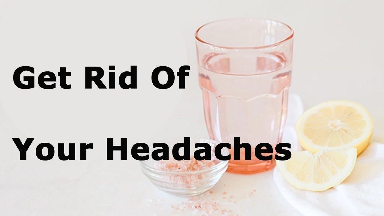 himalayan salt, lemon, headache