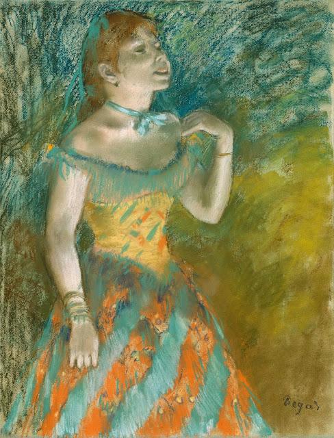 Эдгар Дега - Певица в зелёном (ок.1884)