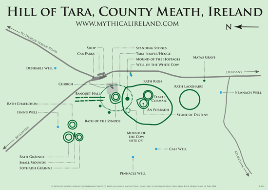 Detailed Map Of Ireland Pdf.Mythical Ireland Blog New Map Of Hill Of Tara Monuments Free Pdf