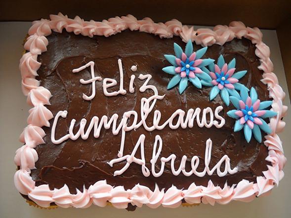 feliz cumpleaños abuela tarta