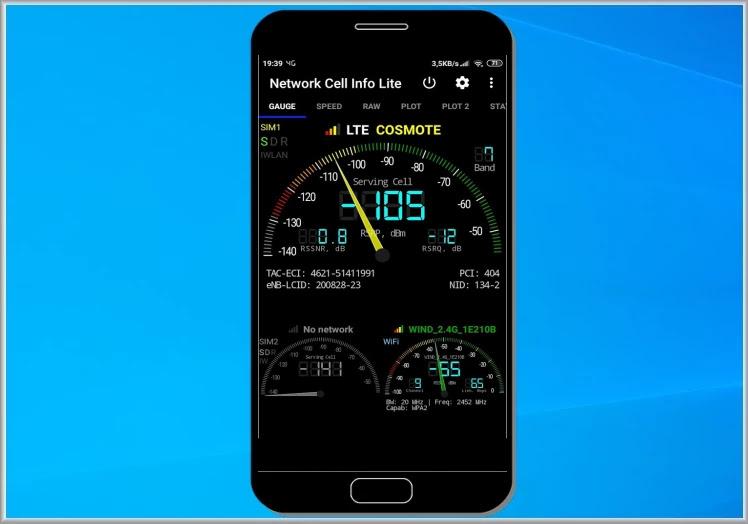 Network Cell Info Lite - Mobile & WiFi Signal : Διαγνωστικό εργαλείο μέτρησης σήματος κινητής και Wi-Fi