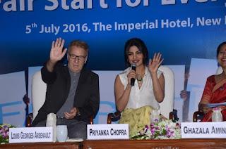 Priyanka Chopra: UNICEF Goodwill Ambassador India supports the FairStart campaign