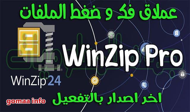 عملاق فك و ضغط الملفات WinZip Pro