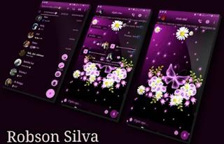 Purple Glow Theme For YOWhatsApp & GB WhatsApp By Robsson