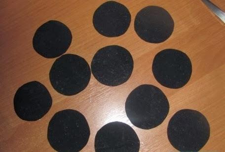 círculos negros