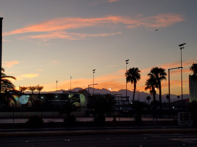Fall sunset in Las Vegas