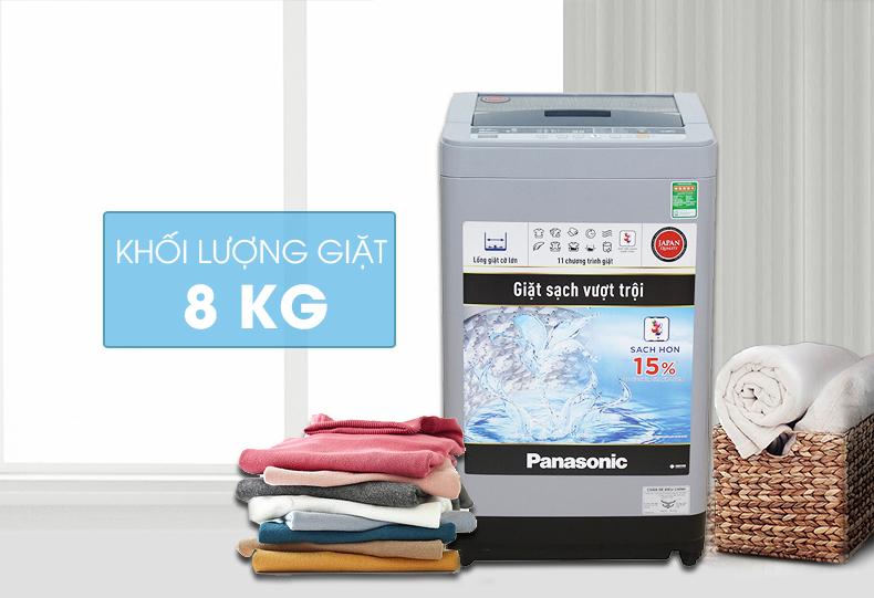 Thiết kế nắp Máy giặt Panasonic NA-F80VS9GRV làm từ kính chịu lực có độ bền cao