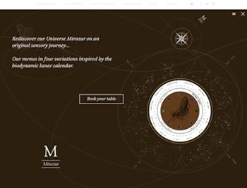 Miramar's dark mode homepage design