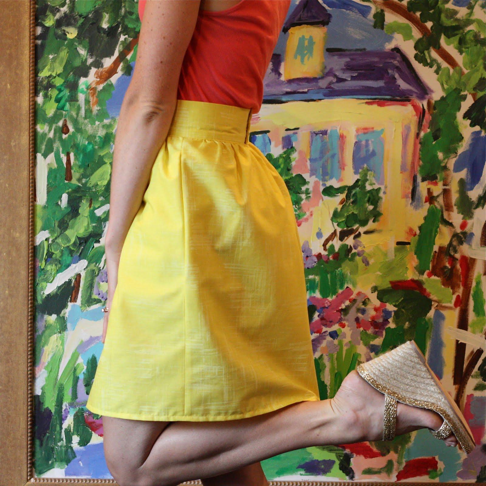 Gathered Skirt with Waistband. DIY Tutorial