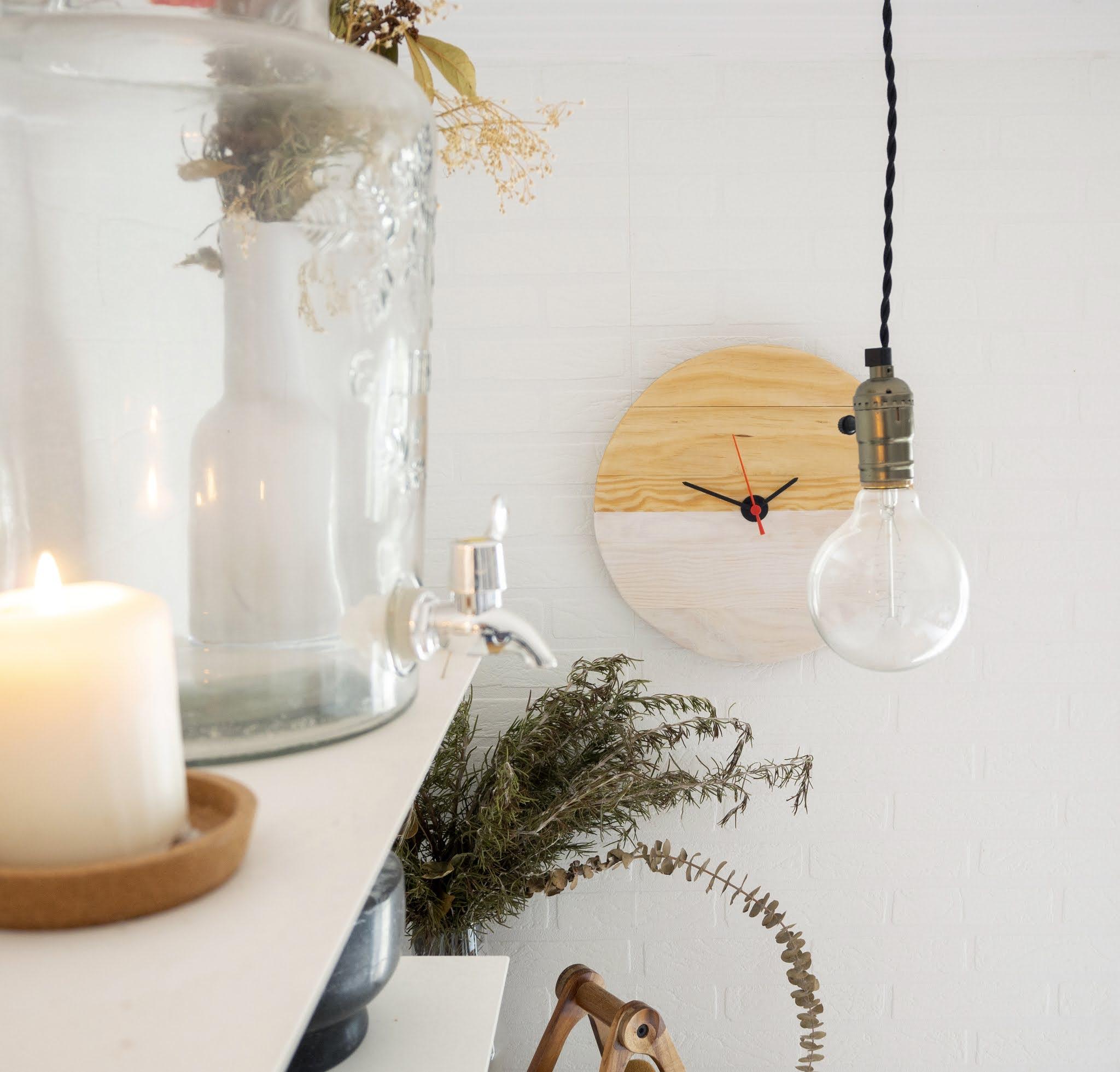 DIY Reloj de madera para nuestra cocina14