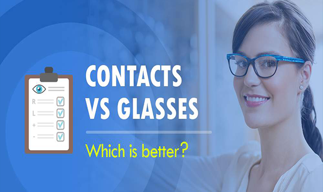 Contacts Vs Glasses Which is Better? #infographic
