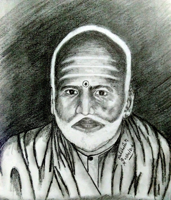 PENCIL DRAWING - Swami Chidbhavananda
