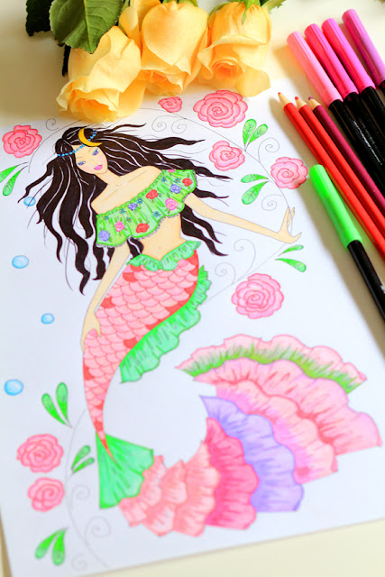 Cancer Mermaid Zodiac Illustration by Mademoiselle Mermaid
