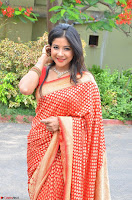 Sakshi Agarwal  in Orange Saree at Inauguration of Handloom And Handicraft exhibition ~  Exclusive 10.JPG