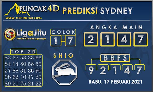 PREDIKSI TOGEL SYDNEY PUNCAK4D 17 FEBUARI 2021