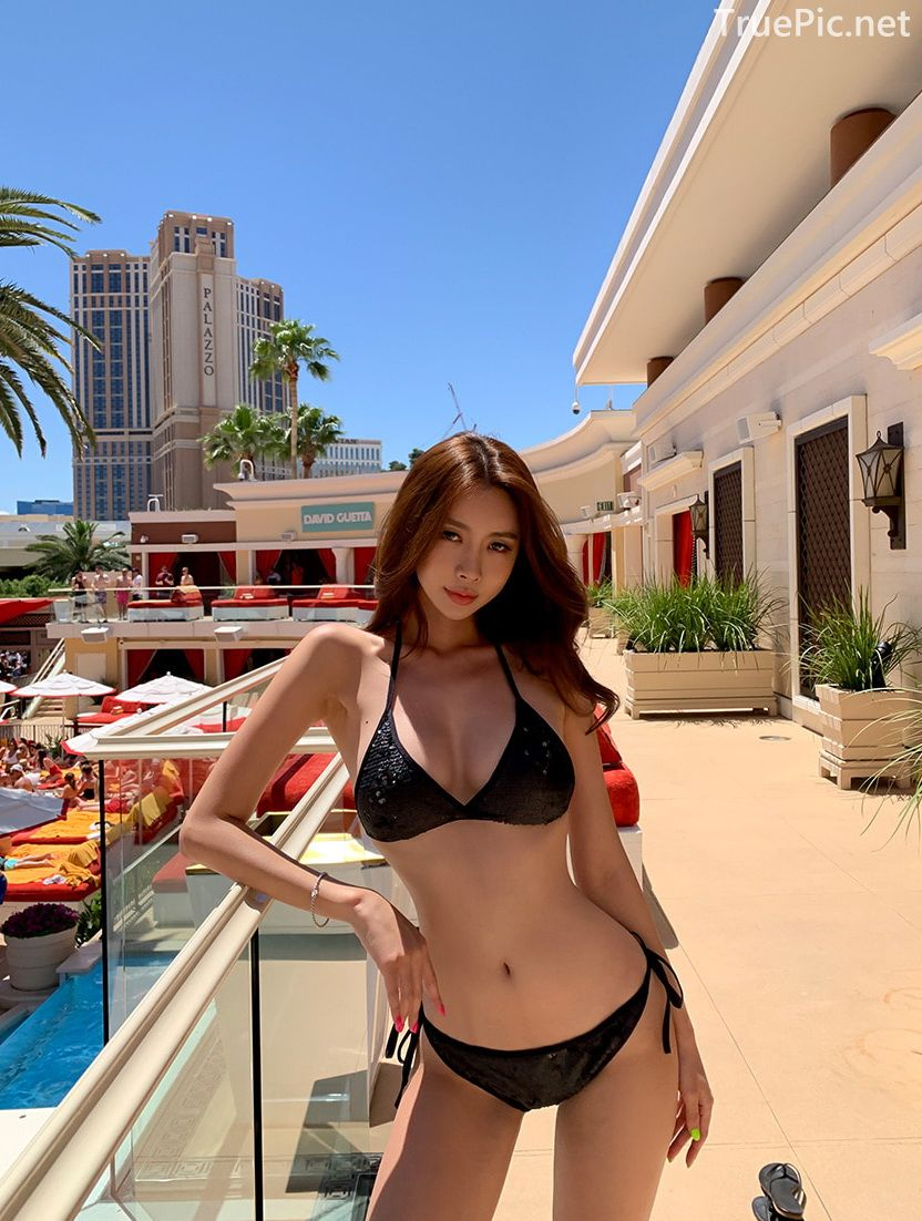 Korean model and fashion - Kwon Byul - Black Bikini in the City - Picture 4