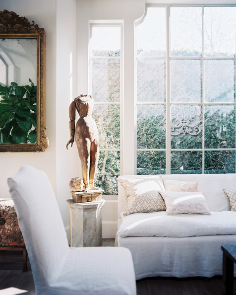 Breathtaking white French Country Kay O'Toole home in Lonny by Patrick Cline
