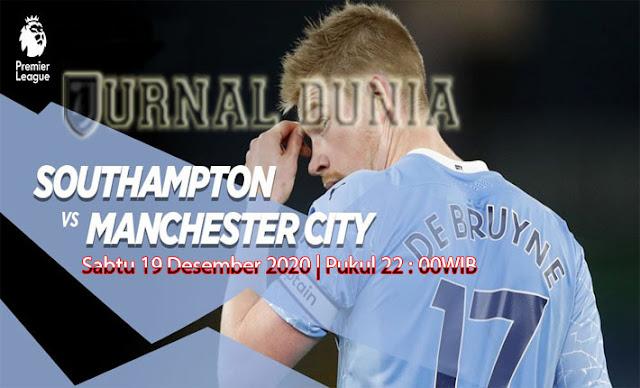 Prediksi Southampton vs Manchester City , Sabtu 19 Desember 2020 Pukul 22.00 WIB