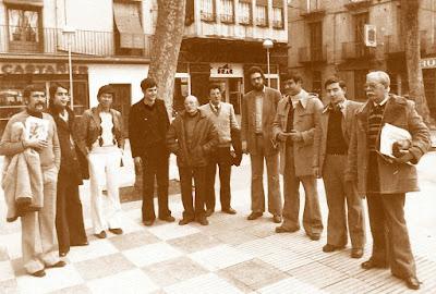 Equipo del Club d'Escacs Olot en 1978