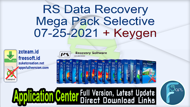 RS Data Recovery Mega Pack Selective 07-25-2021 + Keygen_ ZcTeam.id