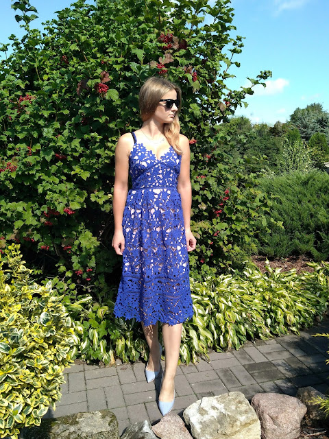 Blue lace dress from Dear Lover. ♥