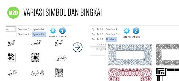 Simbol Islami dan border Quran