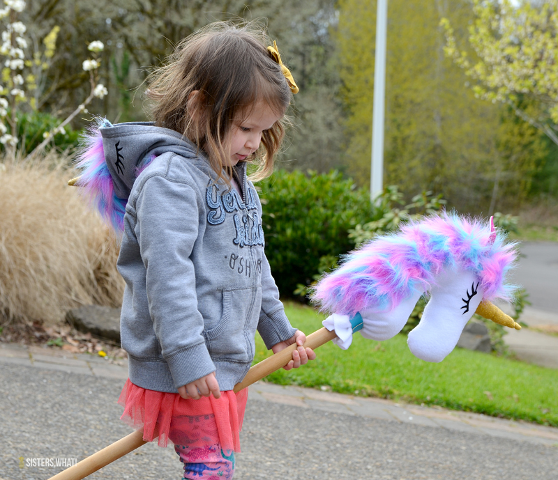 DIY unicorn hoodie clothing and toy horse