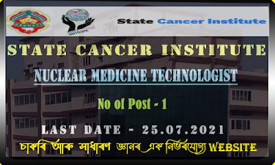 State Cancer Institute Recruitment 2021