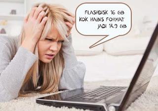 Kapasitas Flashdisk 16 GB Sebenarnya