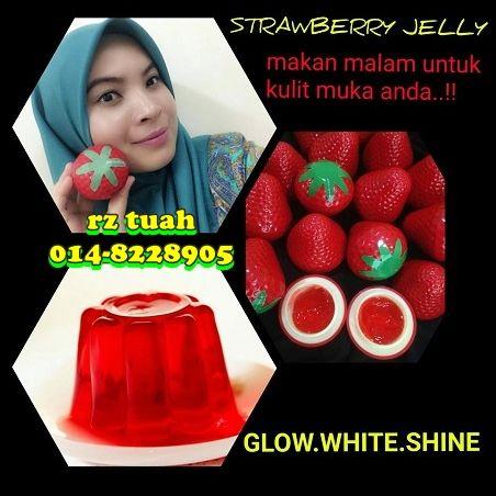 strawberry jelly krim malam untuk wajah