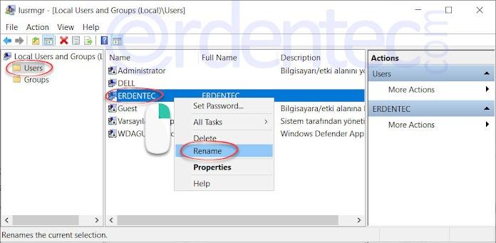 Change Windows 10 Username, Rename User Account