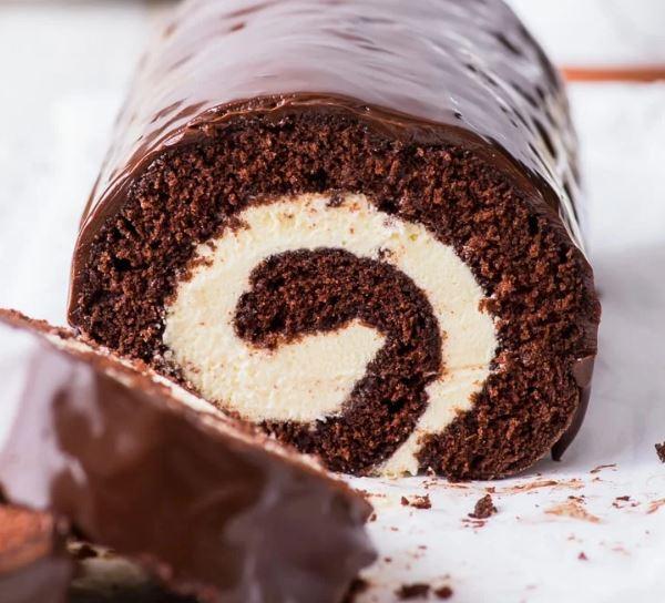 Chocolate Pumpkin Cake Roll