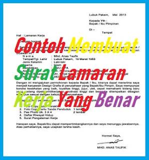 Info CARILOKER Terbaru Membuat SURAT LAMARAN KERJA Dengan Baik/ Benar