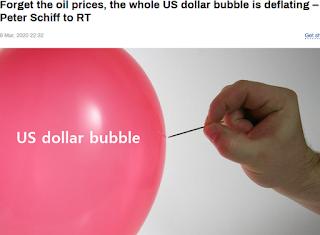 미국 달러 붕괴, 디플레이션, 국제유가 폭락