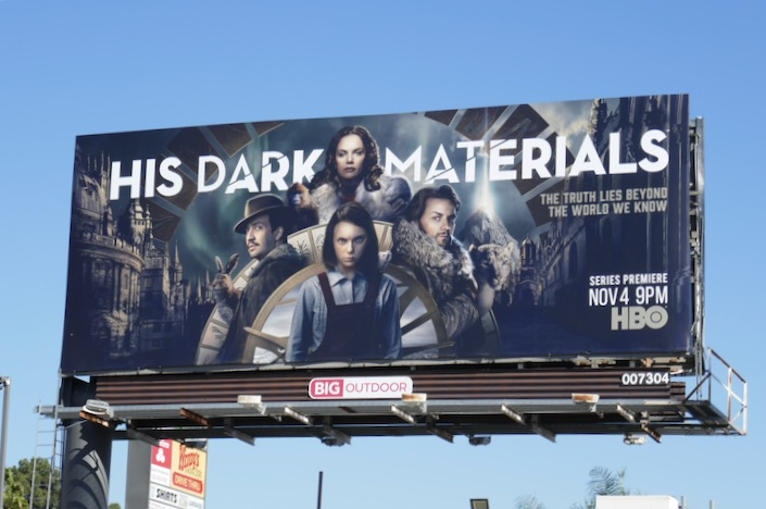 His Dark Materials series premiere billboard