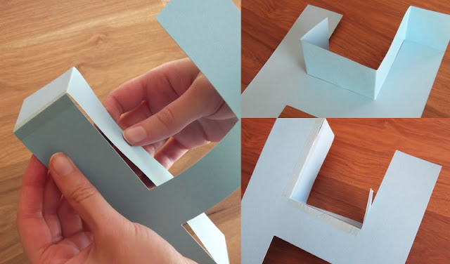 making a 3D paper letter