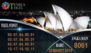 Prediksi Angka Sidney Rabu 25 Maret 2020