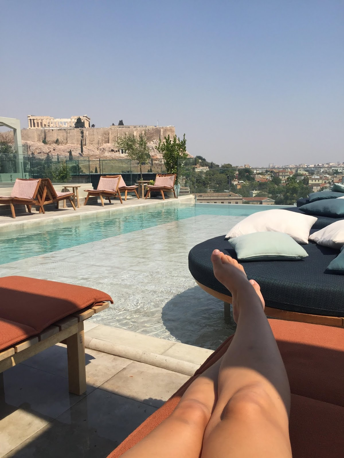 coco mat bc athens hotel views pool and acropolis