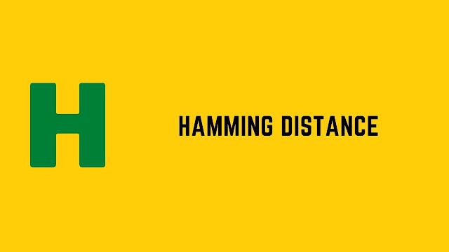 HackerRank Hamming Distance problem solution